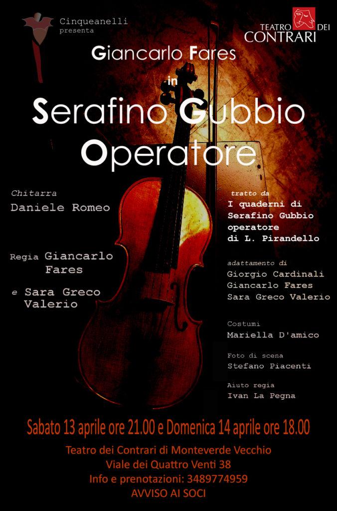 Serafino Gubbio Operatore Teatro dei Contrari Roma